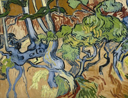 Van Gogh: where trunks and roots meet